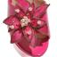 รองเท้าส้นสูงแบบสวมส้นหนาแต่งดอกไม้หรูๆสีดำ/ชมพูอ่อน/ชมพูเข้ม/ขาว/เงิน ไซต์ 34-43 thumbnail 3