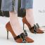 รองเท้าส้นสูงคัดชูปลายแหลมสีแดง/ดำ/เทา/น้ำตาล ไซต์ 34-39 thumbnail 6