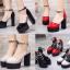 รองเท้าส้นสูงส้นหนาสีแดง/ดำ/ครีม ไซต์ 34-39 thumbnail 1