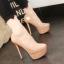 รองเท้าส้นสูงคัดชูสีนู๊ด/ดำ ไซต์ 34-38 thumbnail 2