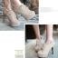 รองเท้าส้นสูงหุ้มเท้าน่ารักๆสีดำ/น้ำตาล/ครีม ไซต์ 34-43 thumbnail 3