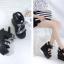 รองเท้าส้นเตารีดแบบเก๋สีดำ ไซต์ 34-39 thumbnail 6