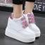 รองเท้าผ้าใบเสริมส้นสีชมพู/ดำ/เงิน ไซต์ 35-39 thumbnail 8