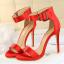 รองเท้าส้นสูง ไซต์ 34-39 แดงเข้ม/ดำ/เขียว/ชมพูเข้ม/ชมพูอ่อน/ขาว/เงิน/แดงส้ม thumbnail 6