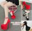 รองเท้าส้นสูงส้นเข็ม ไซต์ 34-39 สีแดง/ดำ thumbnail 1