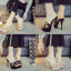 รองเท้าส้นสูงแบบสวมสีดำ/น้ำตาล ไซต์ 34-39 thumbnail 1