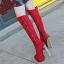 รองเท้าบูทส้นสูง ไซต์ 34-39 สีดำ/แดง/ครีม/เทา thumbnail 9