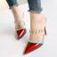 รองเท้าส้นสูงปลายแหลมแบบสวมสีแดง/ชมพู/ดำ/ครีม ไซต์ 34-38 thumbnail 5
