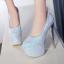 รองเท้าส้นสูงเก็ดกลิ๊กเตอร์สีฟ้า/ม่วง/ทอง/ชม ไซต์ 34-43 thumbnail 7