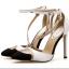 รองเท้าส้นสูงปลายแหลมสีขาว/ดำ ไซต์ 35-40 thumbnail 8