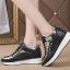 รองเท้าผ้าใบเสริมส้นสีขาว/ดำ ไซต์ 35-39 thumbnail 6