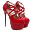 รองเท้าส้นสูงสีแดง/ดำ ไซต์ 34-40 thumbnail 7