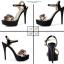 รองเท้าส้นสูงแต่งดอกไม้สีชมพู/ดำ/ขาว ไซต์ 34-39 thumbnail 9