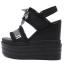 รองเท้าส้นเตารีดแบบเก๋สีดำ ไซต์ 34-39 thumbnail 4