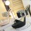 รองเท้าส้นสูงแบบสวยหรูสีดำ/ครีม ไซต์ 34-38 thumbnail 11