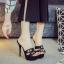 รองเท้าส้นสูงแบบสวมสีดำ/น้ำตาล ไซต์ 34-39 thumbnail 6