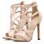รองเท้าส้นสูงสายไขว้สีชมพู/ดำ ไซต์ 35-40 thumbnail 9