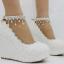 รองเท้าเจ้าสาวส้นเตารีดสีขาวมุข/ชมพู ไซต์ 34-42 thumbnail 5