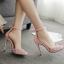 รองเท้าส้นสูงติดหมุดสีชมพู/ดำ ไซต์ 35-40 thumbnail 4