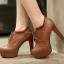 รองเท้าส้นสูงหุ้มเท้าน่ารักๆสีดำ/น้ำตาล/ครีม ไซต์ 34-43 thumbnail 6