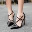 รองเท้าส้นสูงสายไขว้สีครีม/ดำ ไซต์ 35-40 thumbnail 3