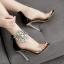 รองเท้าส้นสูงแต่มุขและคริสตัลที่สายรัดข้อสวยหรูสีดำ ไซต์ 35-40 thumbnail 3