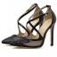 รองเท้าส้นสูงปลายแหลมสีเงิน/ดำ ไซต์ 35-40 thumbnail 7