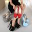 รองเท้าส้นสูงหนังแก้วสีแดง/ดำ/เทา/ฟ้า ไซต์ 34-40 thumbnail 13