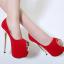 รองเท้าส้นสูงเปิดหน้าสีแดง/ดำ ไซต์ 35-40 thumbnail 5