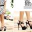 รองเท้าส้นสูงสีม่วง/ชมพู/น้ำเงิน/ดำ ไซต์ 34-39 thumbnail 5