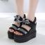 รองเท้าส้นเตารีดแบบเก๋สีดำ ไซต์ 34-39 thumbnail 5