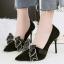 รองเท้าส้นสูงคัดชูปลายแหลมสีแดง/ดำ/เทา/น้ำตาล ไซต์ 34-39 thumbnail 12