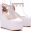 รองเท้าส้นเตารีดเจ้าสาวสีขาว ไซต์ 34-41 thumbnail 4