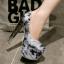 รองเท้าส้นสูง ไซต์ 34-43 สีดำ/ขาว/แดง thumbnail 4