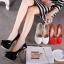 รองเท้าส้นสูง ไซต์ 35-40 สีดำ สีแดง สีขาว thumbnail 1