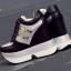 รองเท้าผ้าใบเสริมส้น ไซต์ 34-39 สีขาว/ดำ thumbnail 7