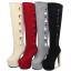 รองเท้าบูทส้นสูง ไซต์ 34-39 สีดำ/แดง/ครีม/เทา thumbnail 1