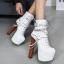 รองเท้าบูท ไซต์ 34-40 สีขาว/ดำ thumbnail 2