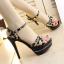 รองเท้าส้นสูงสีชมพู/ดำ ไซต์ 34-39 thumbnail 3