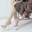รองเท้าส้นสูงแบบสวมสีขาว/ดำ ไซต์ 34-38 thumbnail 5