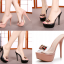รองเท้าส้นสูงแบบสวมสีดำ/ชมพู ไซต์ 34-39 thumbnail 1