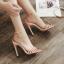 รองเท้าส้นสูงรัดข้อสายคาดหน้า 3 เส้น สีแดง/ดำ/ครีม ไซต์ 35-40 thumbnail 5
