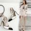 รองเท้าส้นสูงปลายแหลมสีขาว/ดำ ไซต์ 35-40 thumbnail 2
