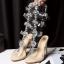 รองเท้าส้นสูงแต่งคริสตัลดูสวยหรู สีพื้นดำ/ขาว/นู๊ด ไซต์ 34-43 thumbnail 16