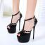 รองเท้าส้นสูง ไซต์ 34-40 สีดำ/ครีม thumbnail 6