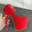 รองเท้าส้นสูงส้นเข็ม ไซต์ 34-39 สีแดง/ดำ thumbnail 7