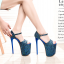 รองเท้าส้นสูง 7.6 นิ้ว สีน้ำเงิน/เทา ไซต์ 34-43 thumbnail 4