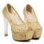 รองเท้าส้นสูงส้นแก้วสีเงิน/ทอง/ดำ ไซต์ 34-39 thumbnail 8