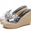 รองเท้าส้นเตารีดลายไม้สีครีม/ดำ ไซต์ 34-39 thumbnail 8
