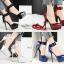 รองเท้าส้นสูงเก็บทรงผ้ารัดข้อผูกสีแดง/ดำ/เงิน/น้ำเงิน ไซต์ 34-39 thumbnail 1